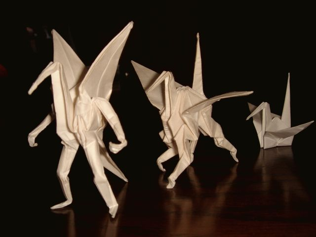 Origami and Transformers